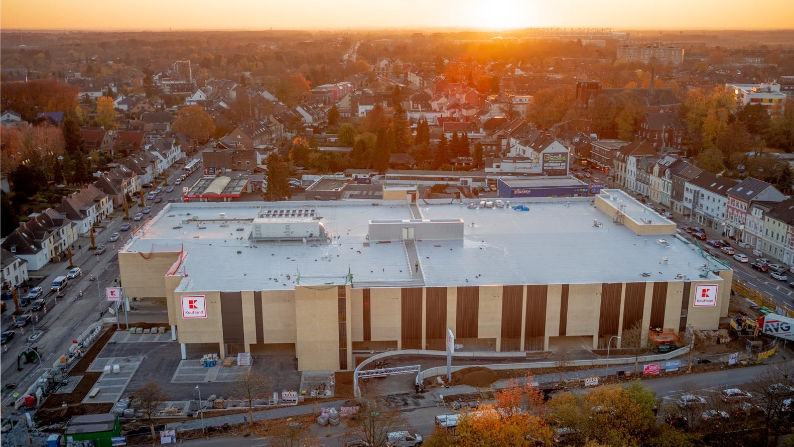 Thumbail creative-eye.de Filmproduktion Kaufland Mönchengladbach Drohnenaufnahmen Luftaufnahme